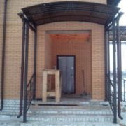 Кованые козырьки в Воронеже